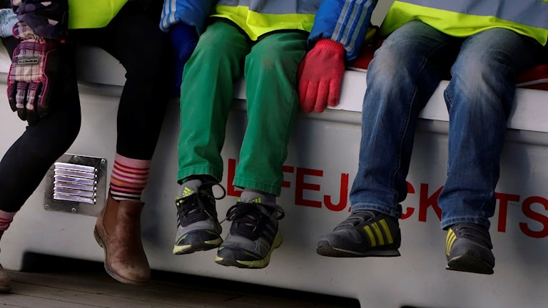 Fötter på förskolebarn