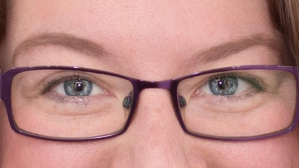 Linnea Molander, närbild på ögonen