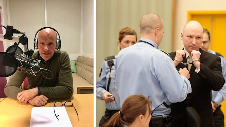 Geir Lippestad tv och Breivik th