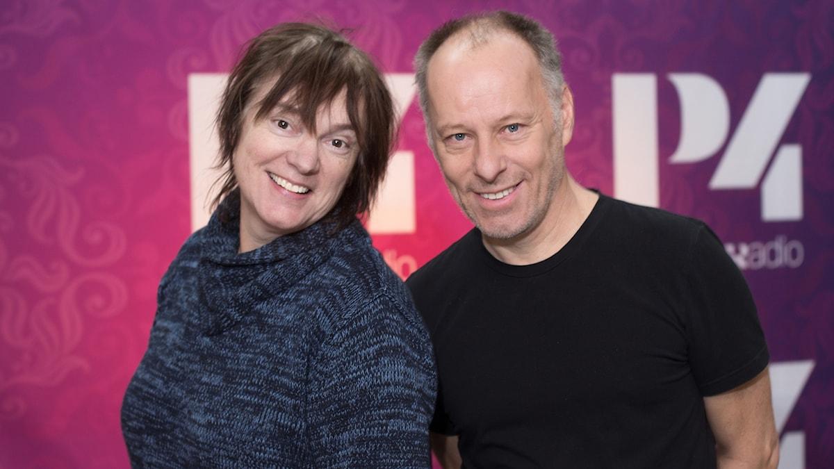 Johan Ehrenberg och Lotta Bromé. Foto: Åsa Stöckel/Sveriges Radio