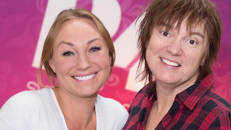 Charlotte Perrelli och Lotta Bromé. Foto: Åsa Stöckel/Sveriges Radio