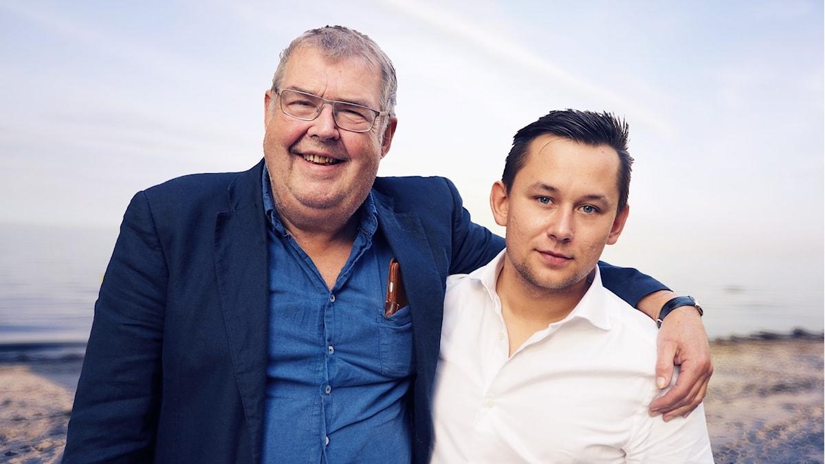 Michael Segerström med sonen Artjom.