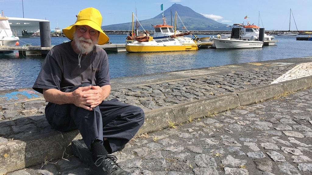 Seglaren Sven Yrvind på Azorerna.