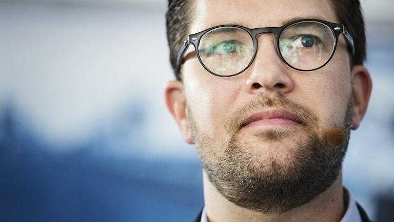 Sverigesdemokraternas partiledare Jimmie Åkesson gästade P4 Extra den 7 december 2017.