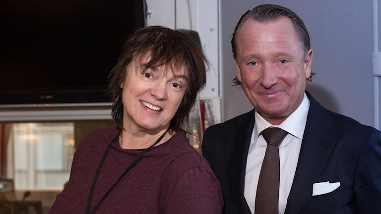 Johan T Lindwall och Lotta Bromé. Foto: Åsa Stöckel/Sveriges Radio