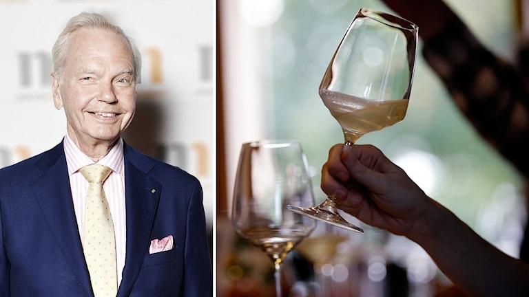 Carl Jan Granqvist och vin.