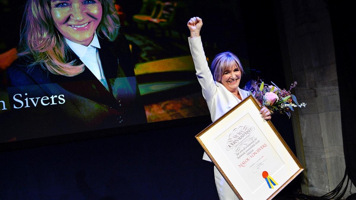 Malou von Sivers får Stora Journalistpriset.