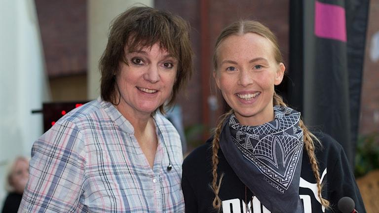 Lotta Bromé och Sofia Jannok. Foto: Åsa Stöckel/Sveriges Radio.