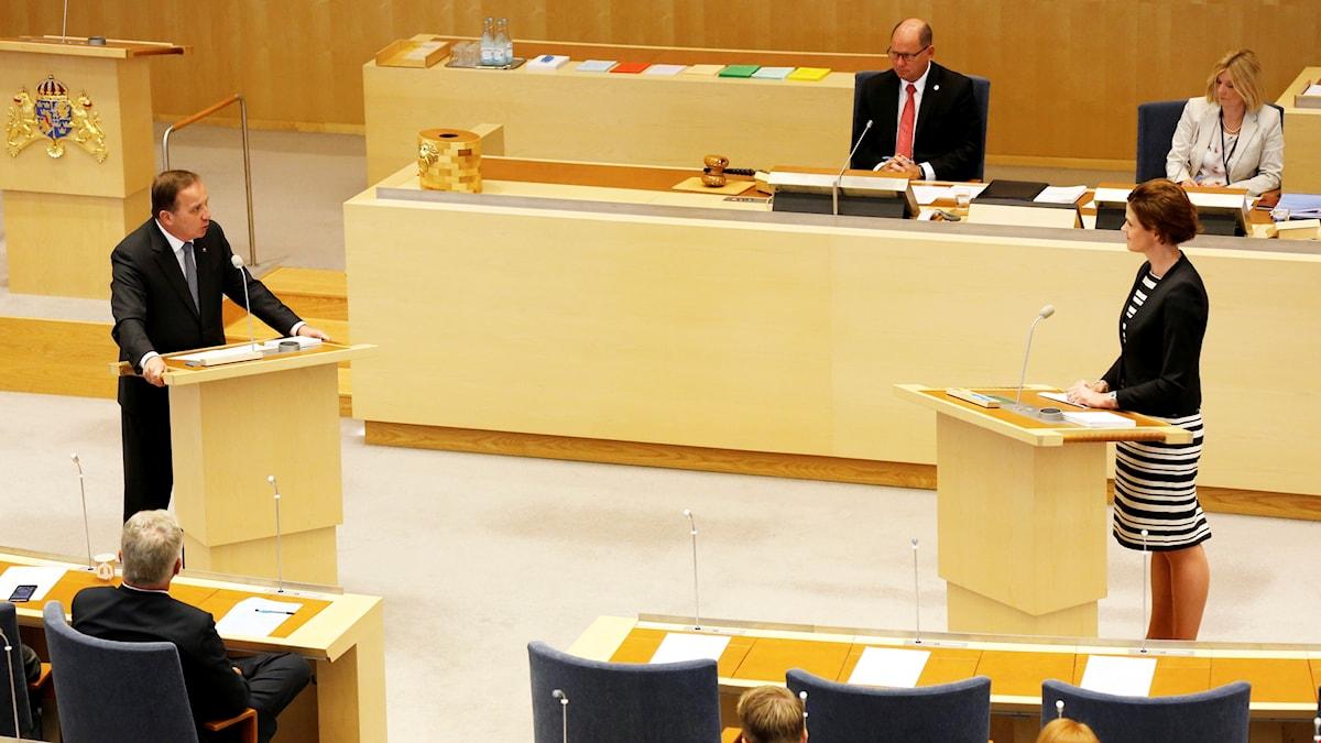 Sista partiledardebatten i riksdagen innan sommaruppehållet.