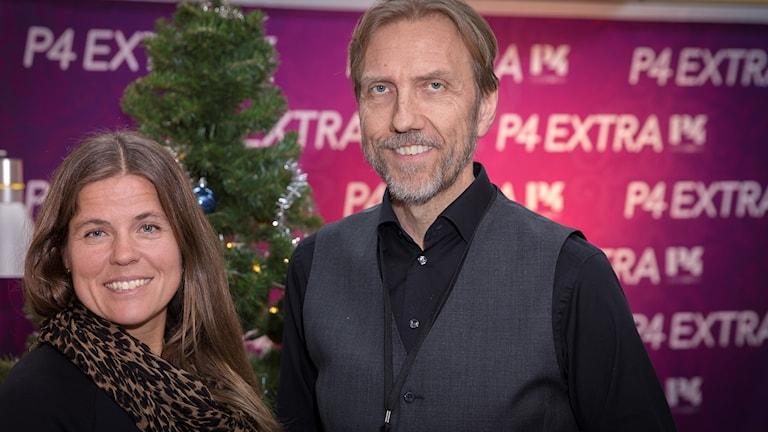 Pernilla Wiberg och Erik Blix