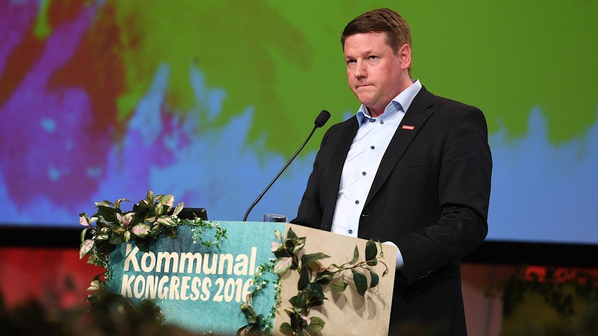 Tobias Baudin valdes till ny förbundsordförande på kongressen på onsdagen.