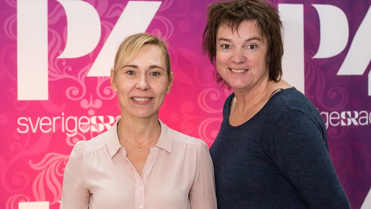 Jessica Liedberg och Lotta Bromé. Foto: Johanna Sten/Sveriges Radio