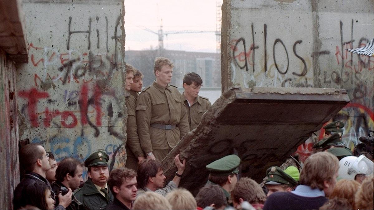 murens fall berlin 1989