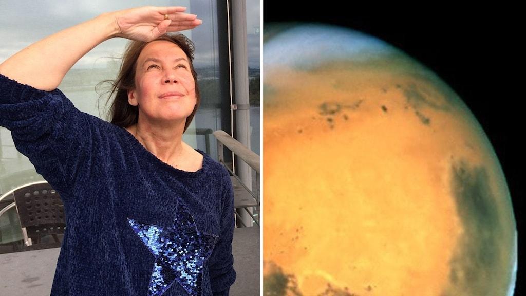 Rymd-Maria och planeten Mars