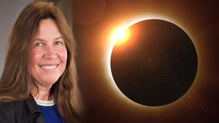 Astrofysiker Maria Sundin berättar om solförmörkelse.