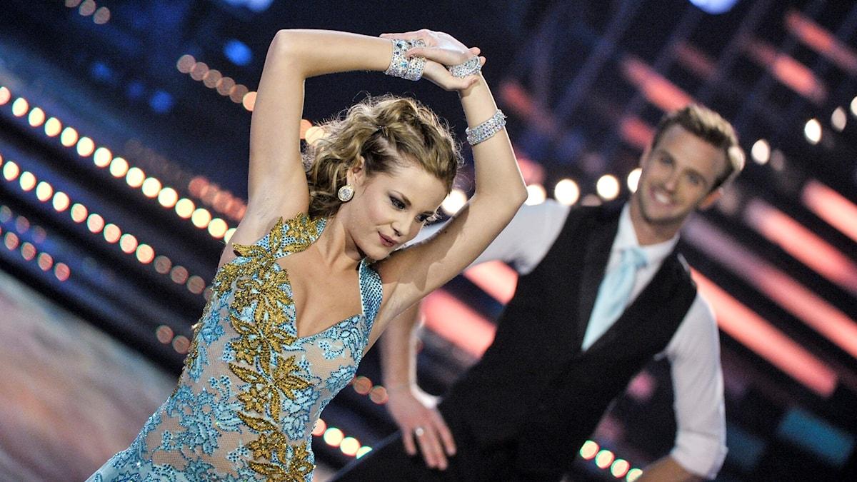 Molly Nutley och Calle Sterner i Lets Dancefinal 2012
