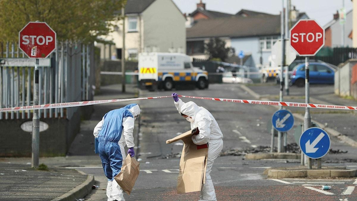 Två unga män har gripits misstänkta för mordet på journalisten Lyra McKee.