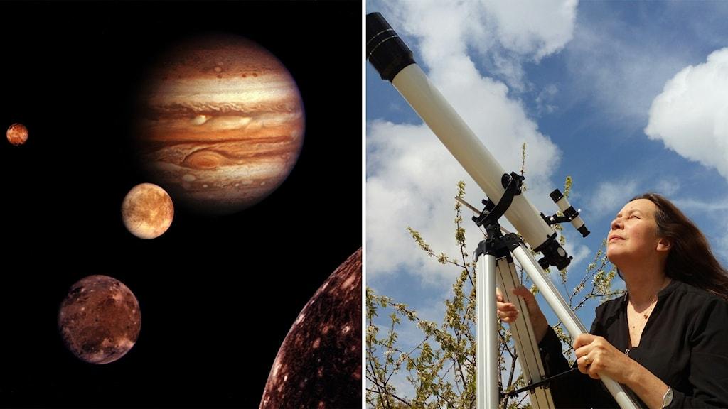 Maria Sundin och Jupiters månar
