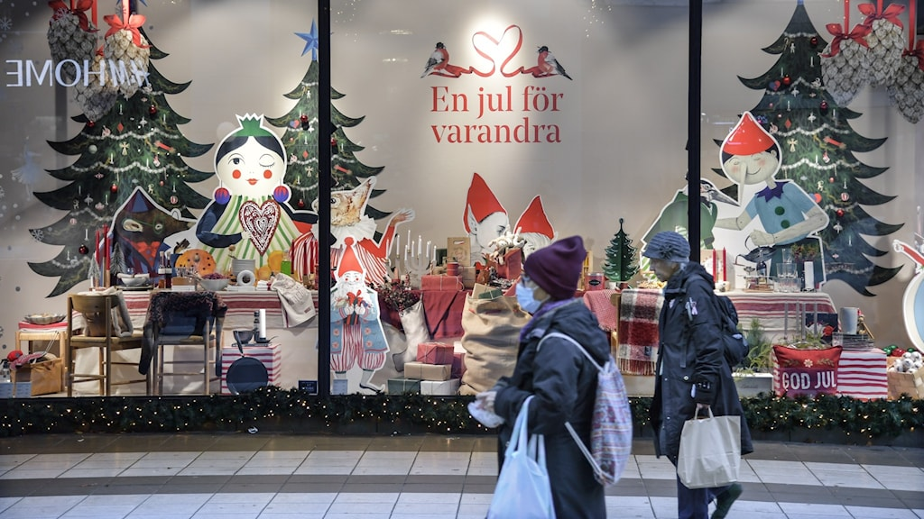 Julskyltning i centrala Stockholm.