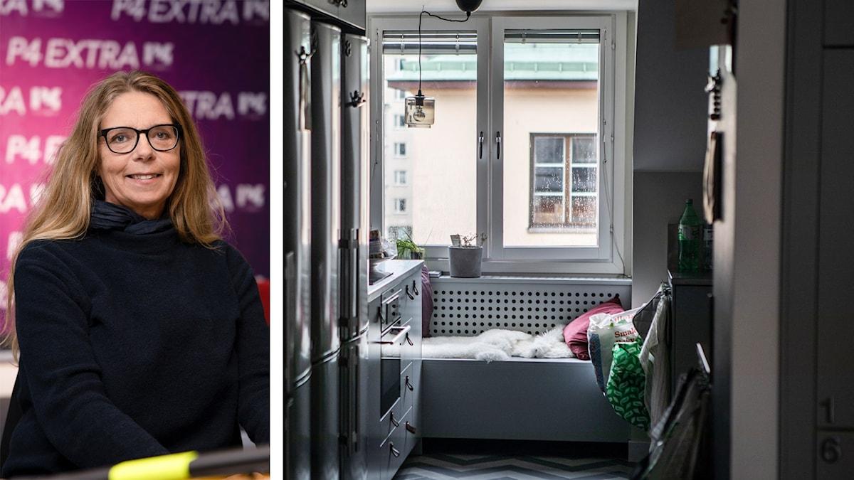 Susanna Skogsberg och interiört från lägenhet