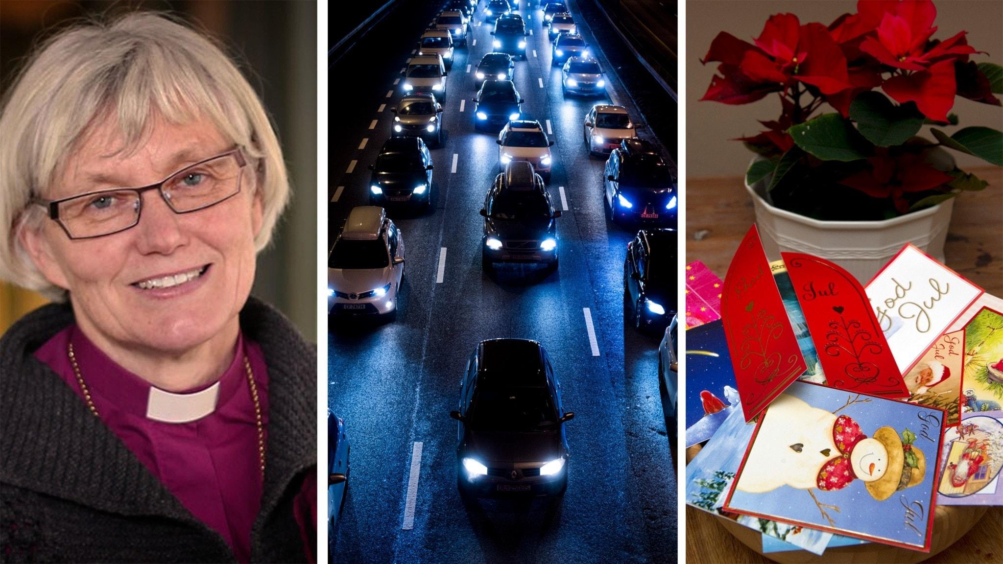 Ärkebiskop Antje Jackelén om julen, jultrafiken är igång men julkorten har halverats