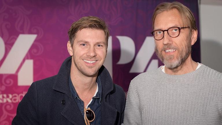 Linus Wahlgren och Erik Blix. Foto: Åsa Stöckel/Sveriges Radio