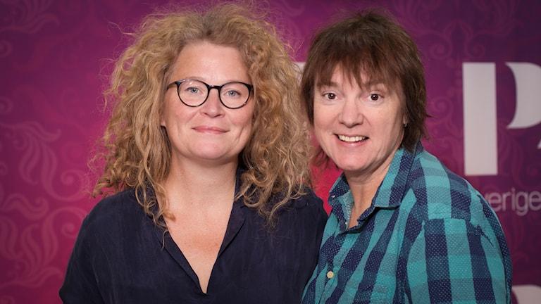Stina Wirsén och Lotta Bromé. Foto: Åsa Stöckel/Sveriges Radio.