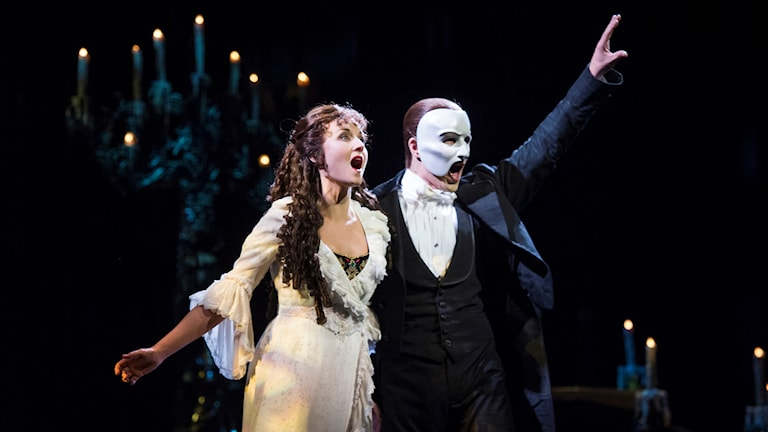 Sångnummer under musikalen phantom of the opera.