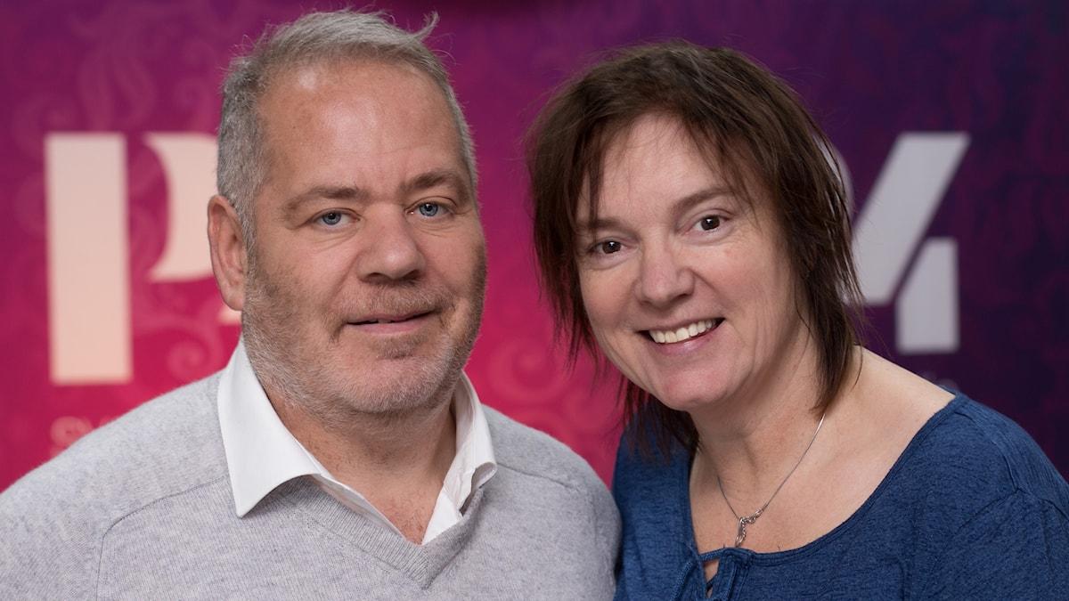 Stefan Einhorn och Lotta Bromé. Foto: Åsa Stöckel/Sveriges Radio