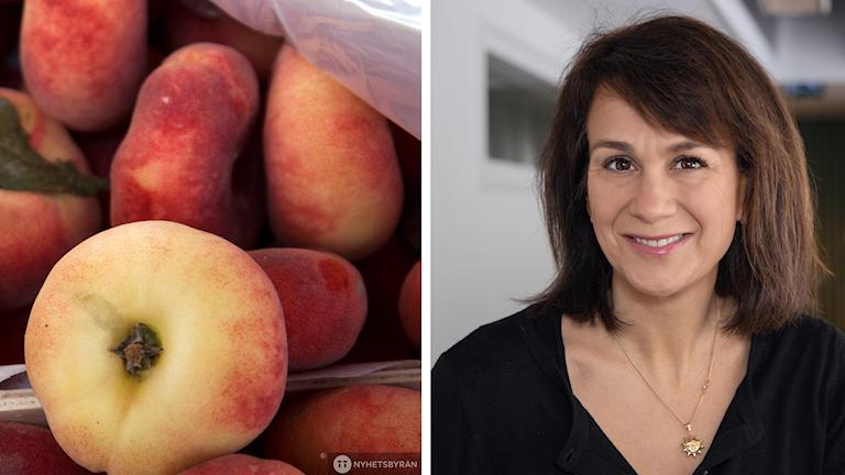 Alexandra Zazzi och persikor