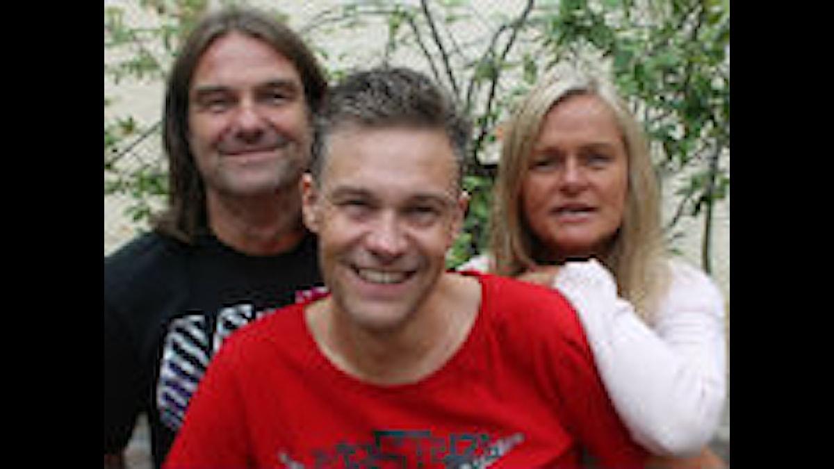 P4 Morgon - Peje, Fredrik och Anne. Foto: Boel Engkvist/Sveriges Radio