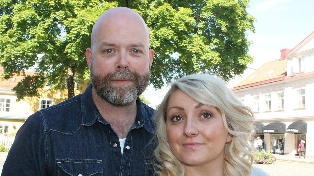 Jocke Wallgren och Sejla Dzamalija. Foto: Anne Marchal/Sveriges Radio