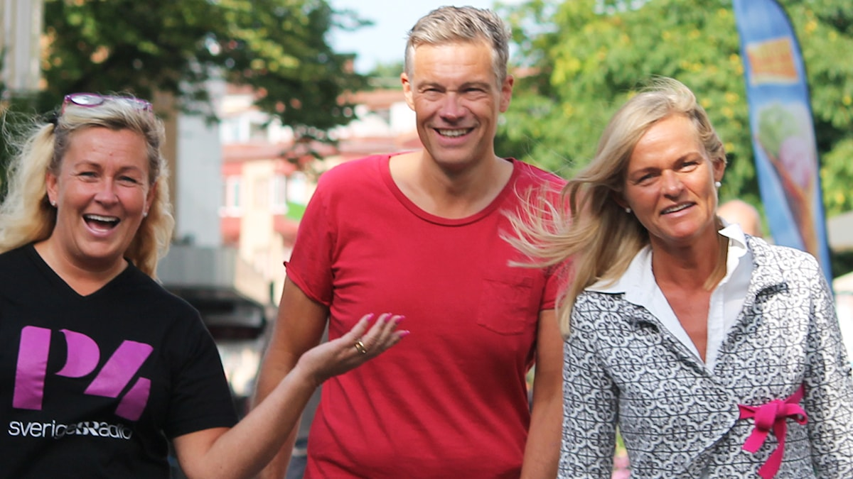 Carina, Fredrik och Anne