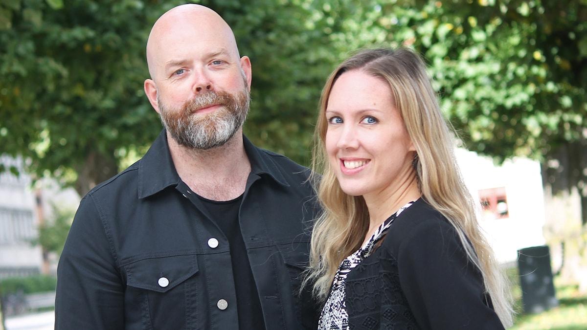 Jocke Wallgren och Maria Helttunen