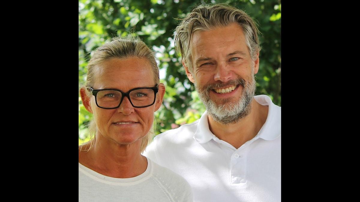 Anne Marchal och Fredrik B Ekdahl, programledare Morgon i P4