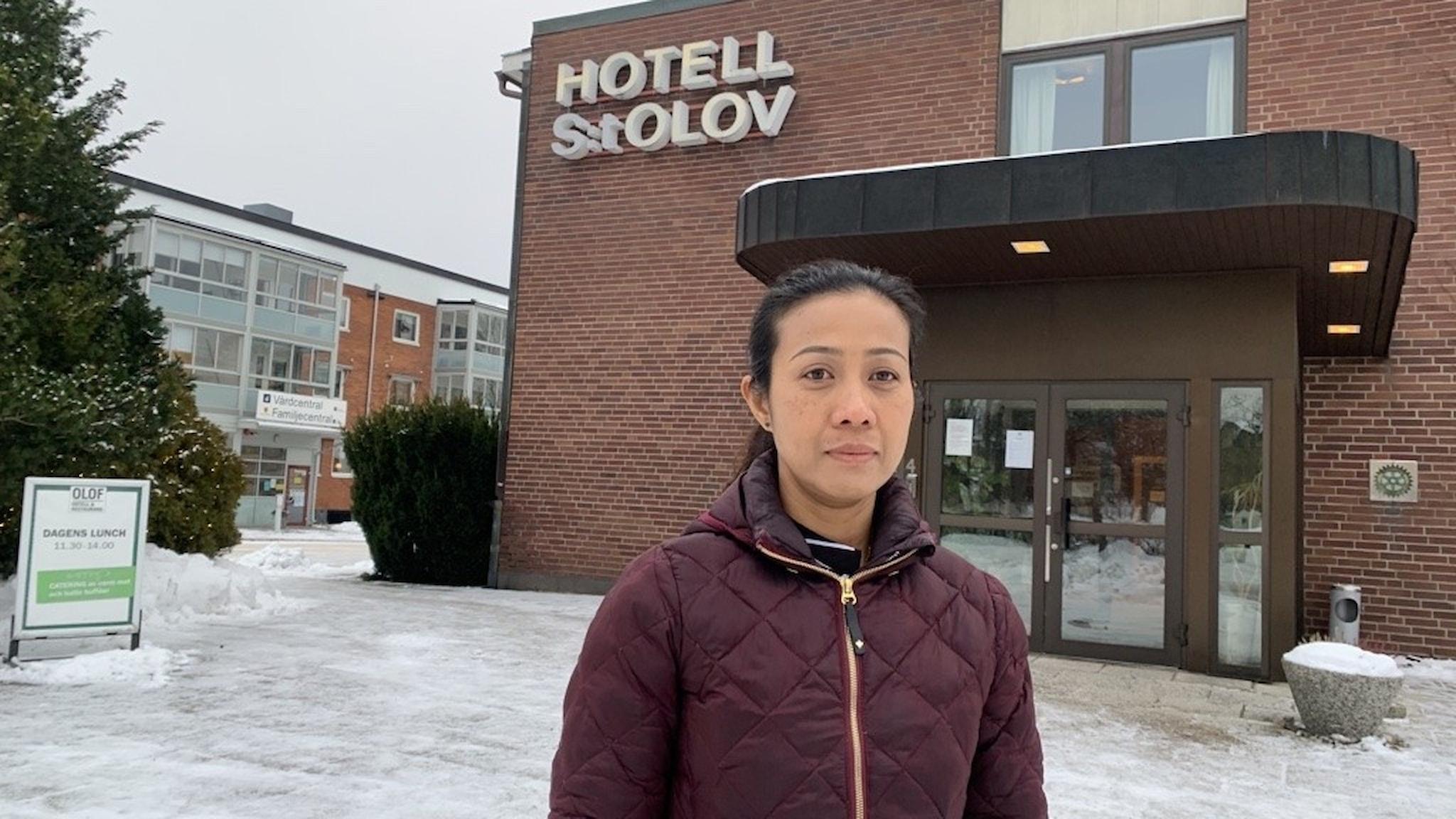Saifon Ersrud hotellägare i Åseda.