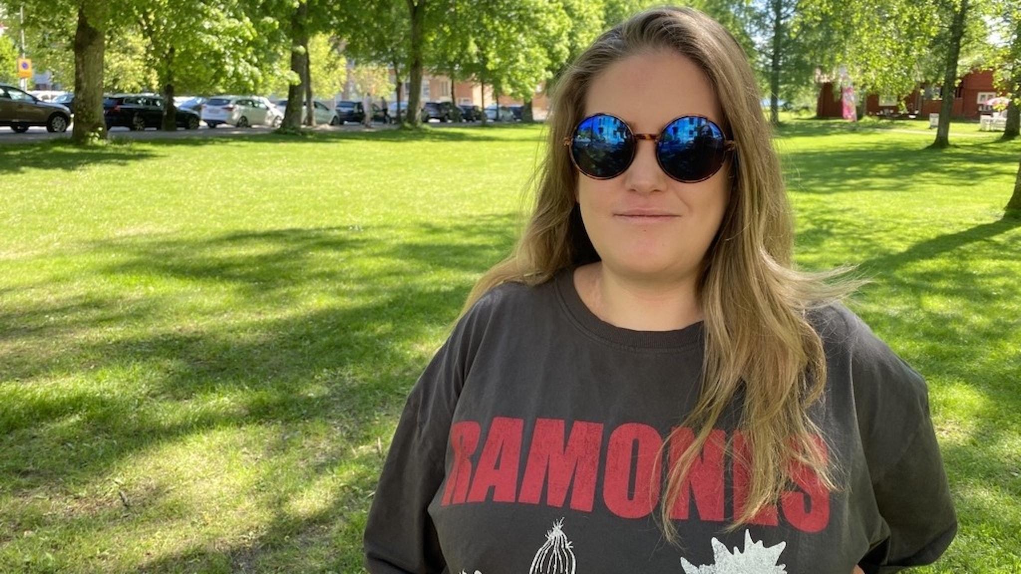 Växjöbon Cassandra Sandkvist som är gravid i vecka 32.