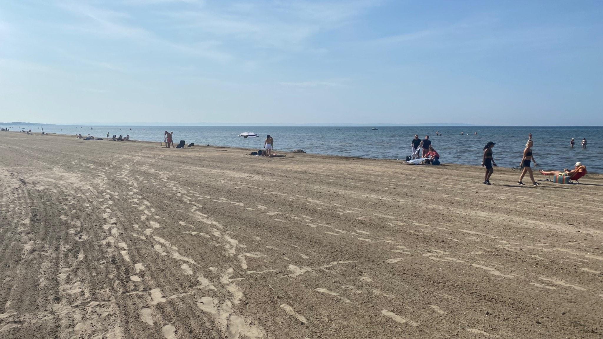 Det blir en dag på stranden