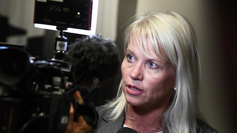Carina Wutzler (M) kommunalråd i Vellinge efter onsdagens debatt och ja till införandet av ett lokalt tiggeriförbud.