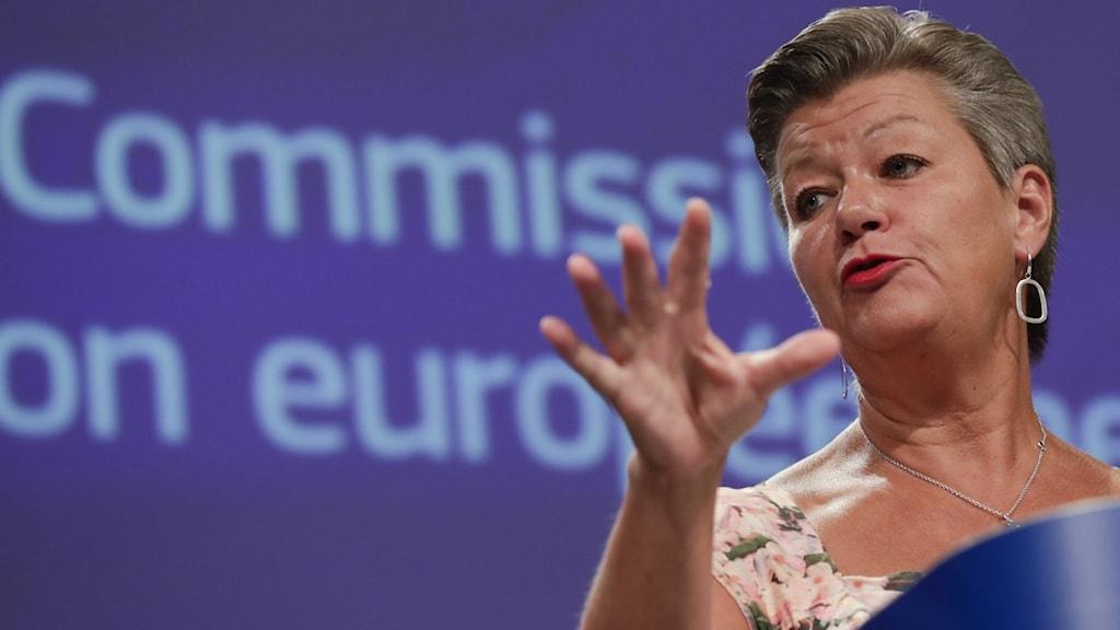 Ylva Johansson, hoggaamiyaha guddiga arrimmaha gudaha iyo ammaanka EU-da.