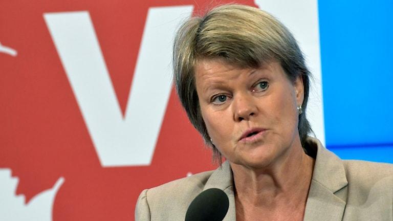 Ulla Andersson, af-hayeenka dhaqaalaha ee xisbiga Vänsterpartiet.