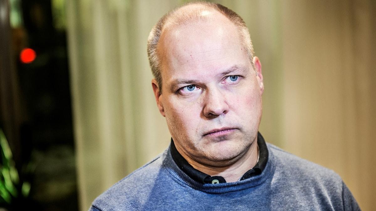 Morgan Johansson (S), wasiirka shuruucda Sweden.