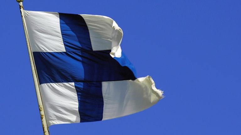 Calanka caddaanka iyo istillaabta buluugga ee dalka Finland.