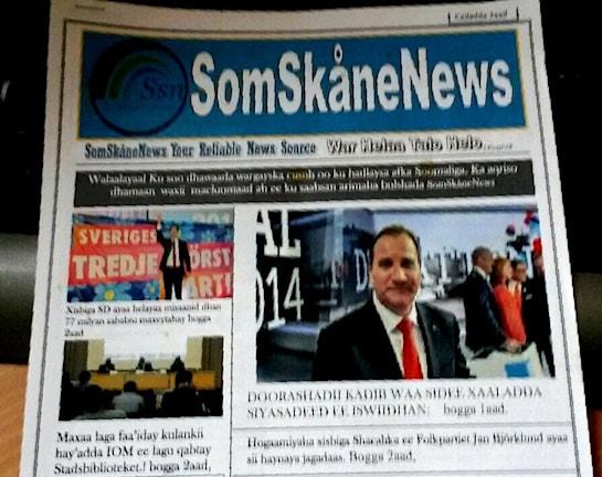 Första somaliska tidningen i Skåne. Foto: SR/Radio Sweden
