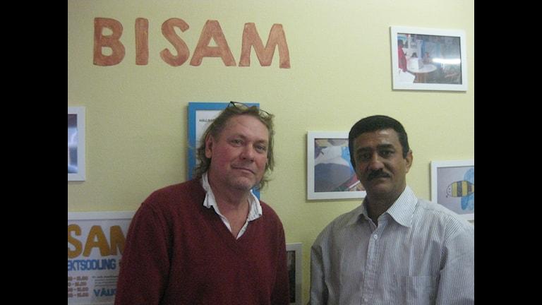 Lars Flygare och Wahib Mohamed, Bisam projektet i stadsdelen Seved. Foto: Föreningen Hidde iyo Dhaqan