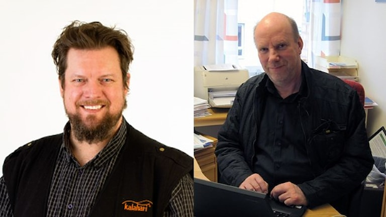 Johan Lundberg (V) och Kjell Hedvall (S). Foto: Vänsterpartiet / Linnéa Frimodig / Sveriges Radio