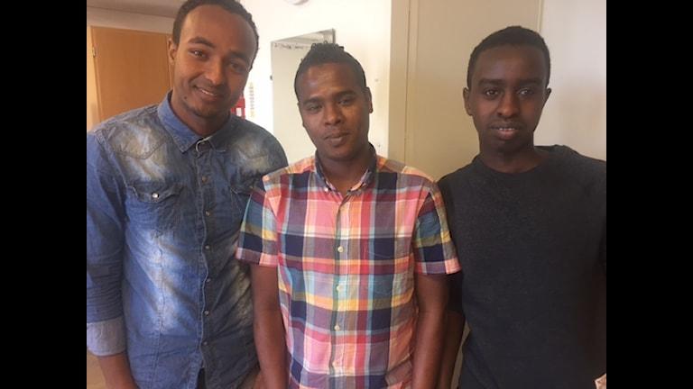 Samiir,zakaria iyo Omar arday dhigta Sprintgymnasiet