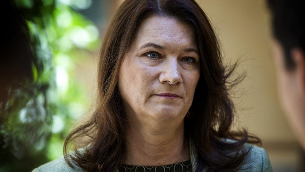 Anna Linde (S), wasiirka arrimmaha dibadda Sweden