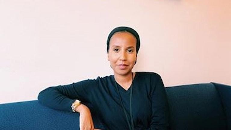 Amal Mohamed Omar, ny ordförande för Rinkebys Folkets Hus. Foto: Kenadid Mohamed/SR
