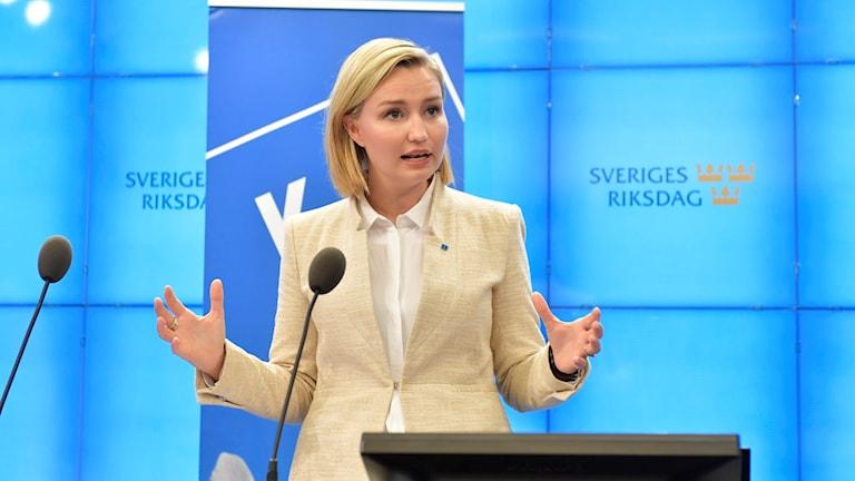 Ebba Busch Thor, hogaamiyaha xisbiga KD.